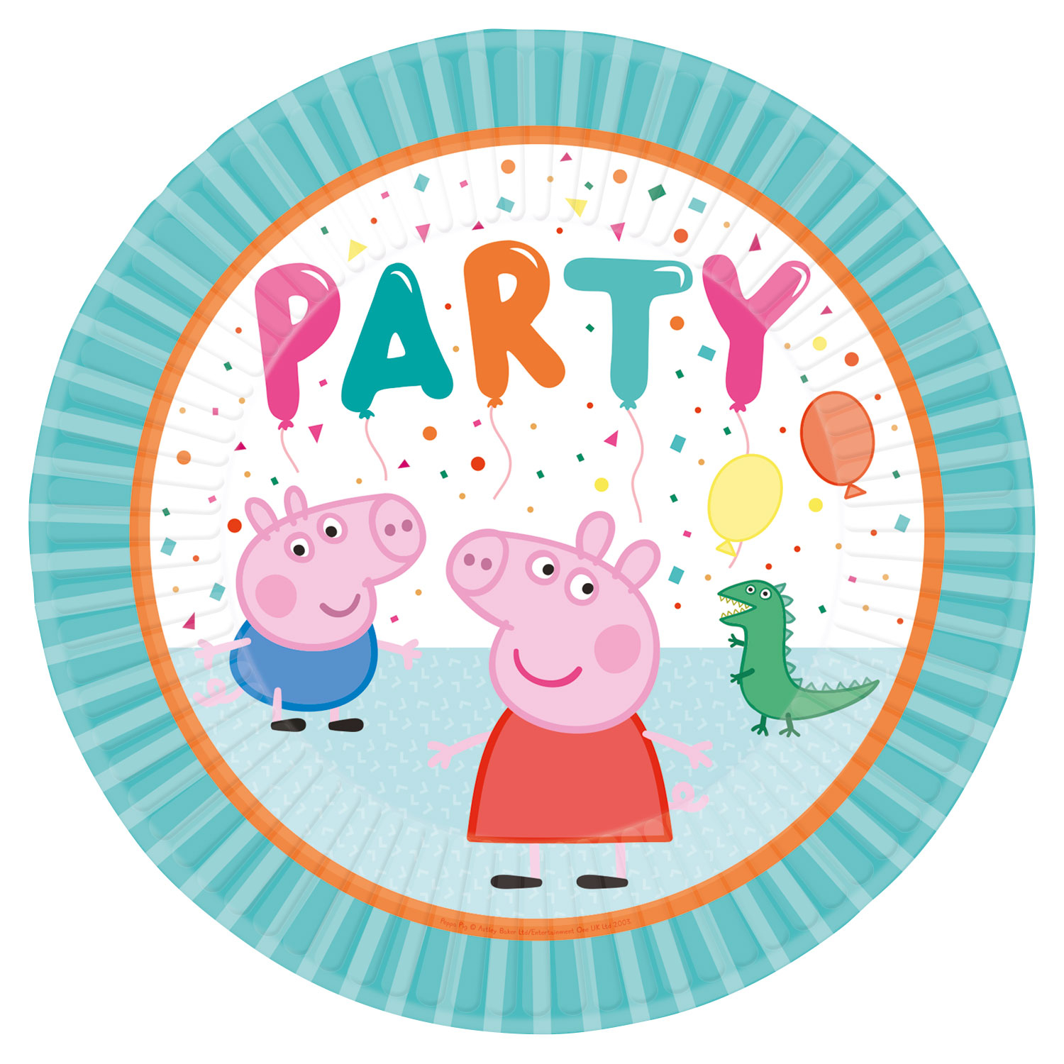 Peppa Pig Rainbow Party Plates