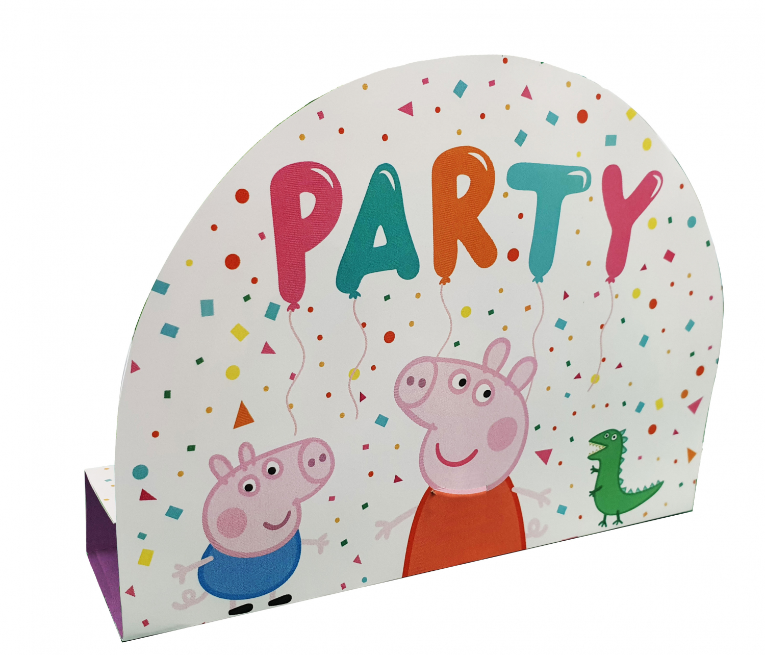Peppa Pig Rainbow Party Stand-Up Invitations