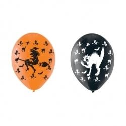 Halloween Witch & Cat Party Balloons
