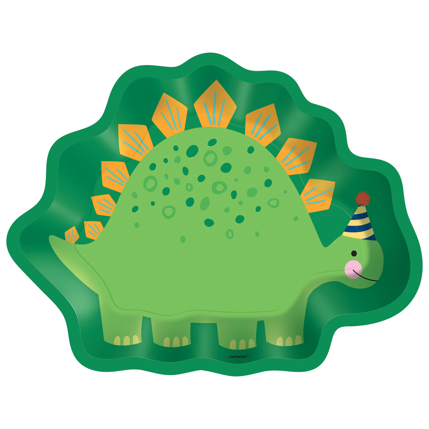 Dinosaur Party Metallic Plates