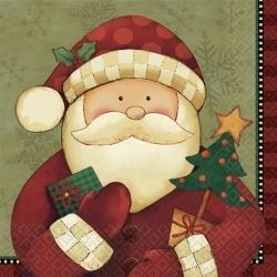 Cozy Santa Party Napkins