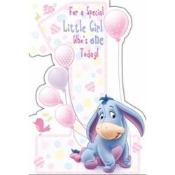 Winnie The Pooh 1st Girl  Birthday Cards