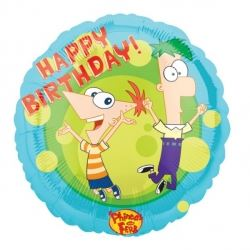 Phineas & Ferb Helium Foil Balloon