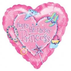 Princess Happy Birthday Party Helium Foil Balloon
