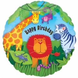 Jungle Happy Birthday Helium Foil Balloon