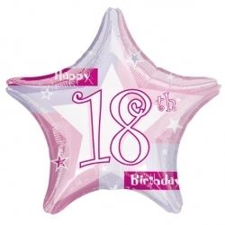 18th Birthday Pink Shimmer Party Foil Balloon