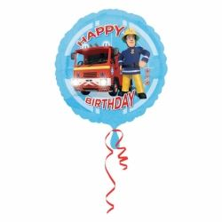 Fireman Sam Happy Birthday Helium Foil Balloon