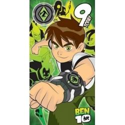 Ben 10 Badge Birthday Cards Age 9. With Free Badge
