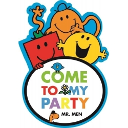 Mr Men Party Invitations