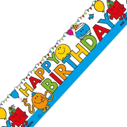 Mr Men & Little Miss Party Happy Birthday Banner