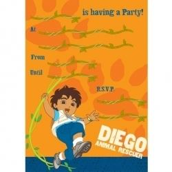 Go Diego Go Party Invitations