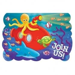 Deep Sea Fun Party Invitations