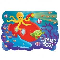 Deep Sea Fun Party Thank You's