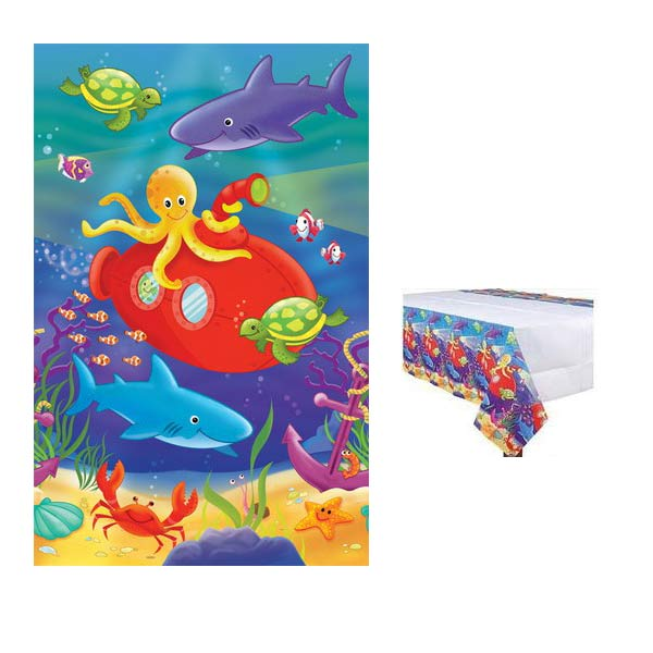 Ocean Paper Party Tablecover