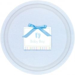 Baby Soft Blue Baby Party Plates