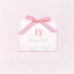 Baby Soft Pink Baby Party Napkins