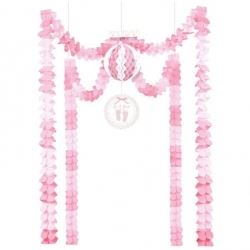 Baby Soft Pink Baby Party Decoration Kit