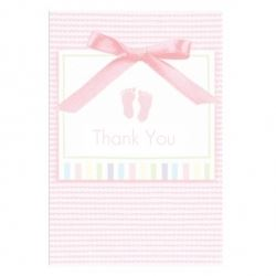Baby Soft Pink Baby Party Thank You