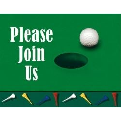 Golf 19th Hole Party Invitations