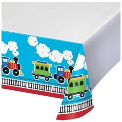 All Aboard Steam Train Party Tablecover