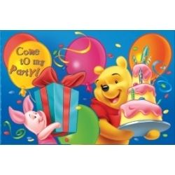 Winnie The Pooh Party Invitations
