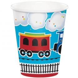 All Aboard Steam Train Party Cups