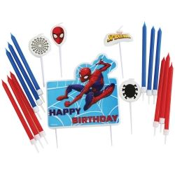 Spiderman Party Candle Set