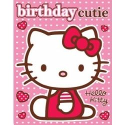 Hello Kitty Birthday Card With Free Stickers