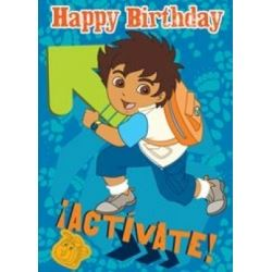 Go Diego Go Birthday Card