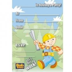 Bob The Builder Lets Get To Work Party Invitations