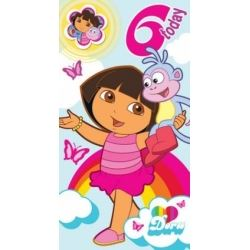 Dora The Explora Birthday Card Age 6 With Free Badge