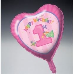 1st Birthday Fun To Be One Girl Party Foil Balloon