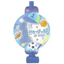 1st Birthday All Star Baby Boy Party Blowouts