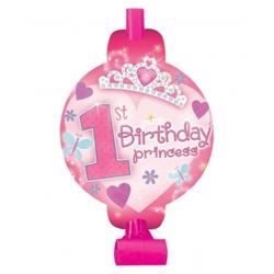 1st Birthday Princess Baby Girl Party Blowouts