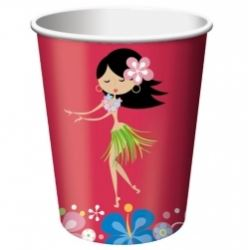 Luau Hula Hula Party Cups