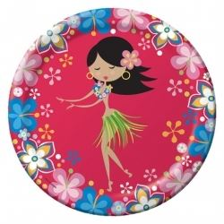 Luau Hula Hula Party Plates