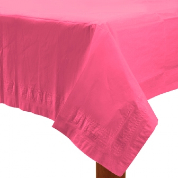 Bright  Pink Party Paper Tablecover