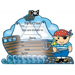 Chubblies Pirate Party Invitations