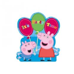 Peppa Pig Party Blue Invitations