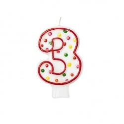 Birthday Cake Candle Number Age 3