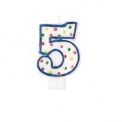 Birthday Cake Candle Number Age 5