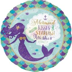 Mermaid Wishes Party Foil Balloon