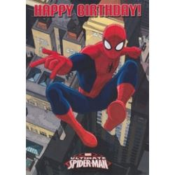 Spiderman Happy Birthday Card