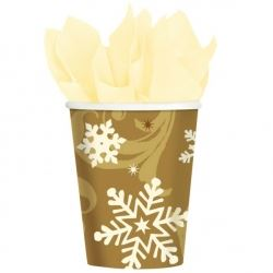 Elegant Entertaining Gold Christmas Party Cups