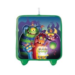 Monster Mania Happy Birthday Candle