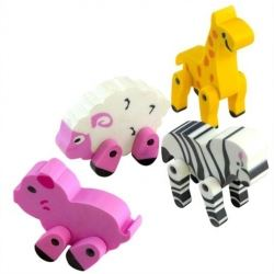 Party Favours 3D Animal Erasers