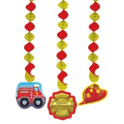 Fire Engine Birthday Party Dangling Cut Outs