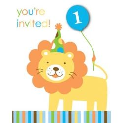 Sweet At One Boy Party Invitations