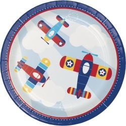 Lil Flyer Airplane Party Plates