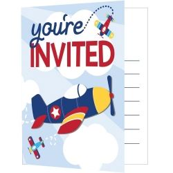 Lil Flyer Airplane Party Invitations